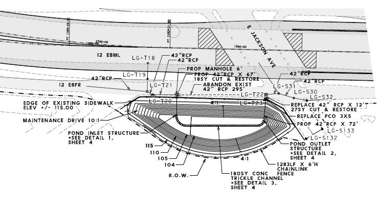 openroads drainage cross sections